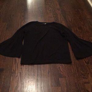 Lightweight bell sleeves sweater
